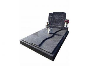 Gedecktes Steingrab mit Wellen als Stein