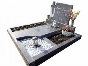 Grabstein mit halbrunder Erde